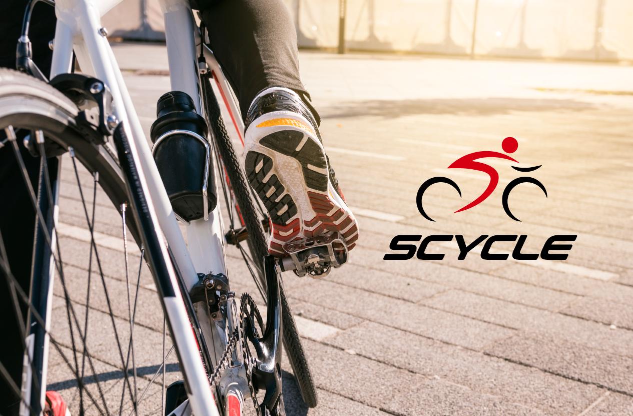 和と日本の雰囲気があるレンタル自転車会社のロゴマーク